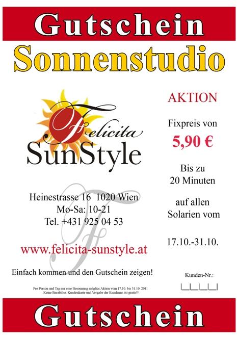 Solarium Wien Aktion Gutschein Zum Ausdrucken F R Das